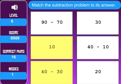Matching Subtraction