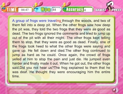 Typing Expert: Two Frogs