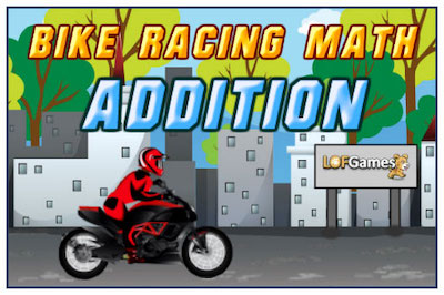 Bike Racing Math Addition (Math Game)