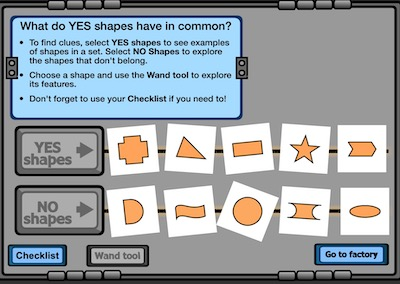 Shape Sorter (Identifying Shapes with and without sides and more)