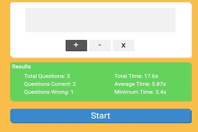 Math Quiz (Choose: Addition, Subtraction and Multiplication)