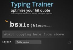 Typing trainer