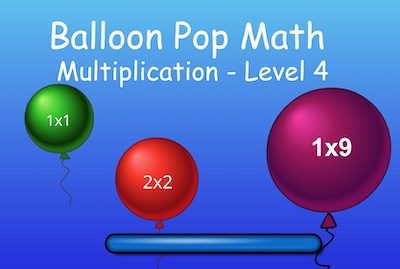 Multiplication - Level 4 - Balloon Pop