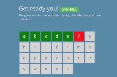 Alphabeat: Compete Against Friend. How Fast Can you Type