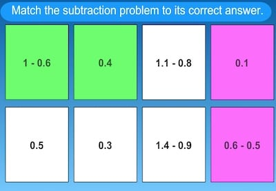 Decimal Subtraction Game