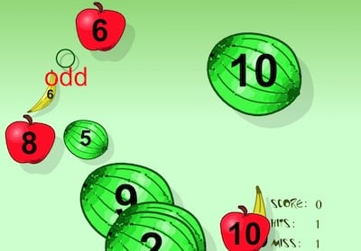 Odd and Even Quiz (Fruit Splat)