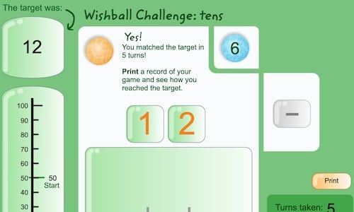 "Learning ""Tens"" With this Wishball Game"