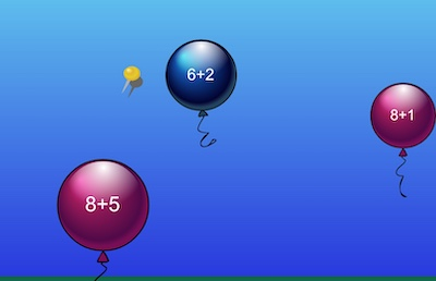 Level 2 - Addition - Balloon Pop Math