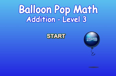 Level 3 - Addition - Balloon Pop Math