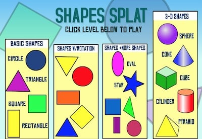 Learn Shapes with Shapes Splat Game
