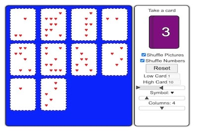 Counting Cards: A Drag-Drop Counting Game