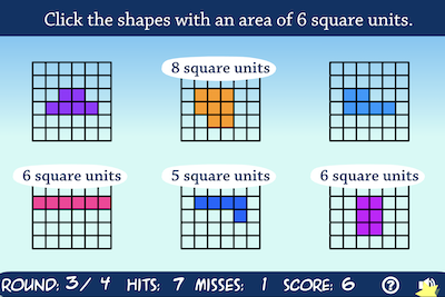 Area and Square Units Game