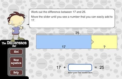 Learn Easy Subtraction With The Difference Bar Game
