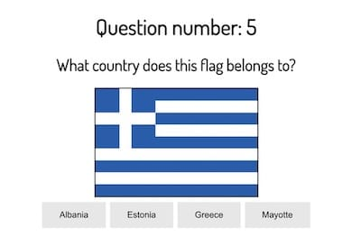 Geography Quiz: What is the Population, Capital, and Flag of a Country?